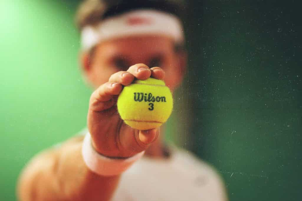 Tennismatch spieler Match