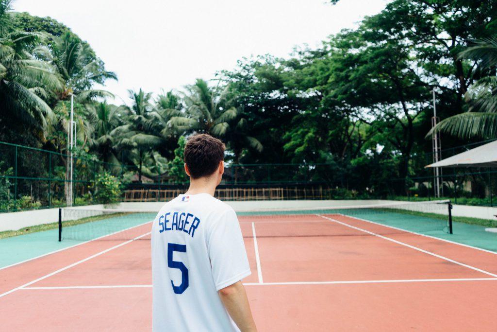 Tennisspieler auf dem Court